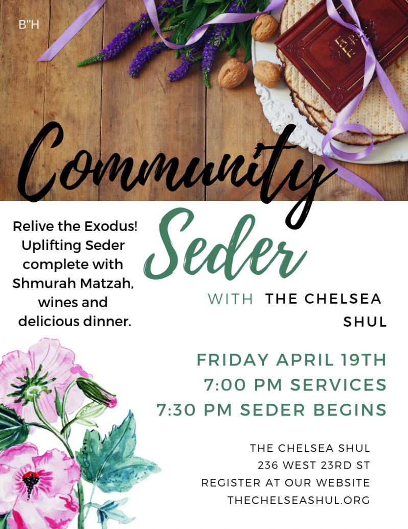 Passover Seder - First Night | Event Reservations | Chelsea